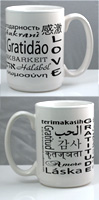 4 Mug Set: 15oz Ceramic mug - White