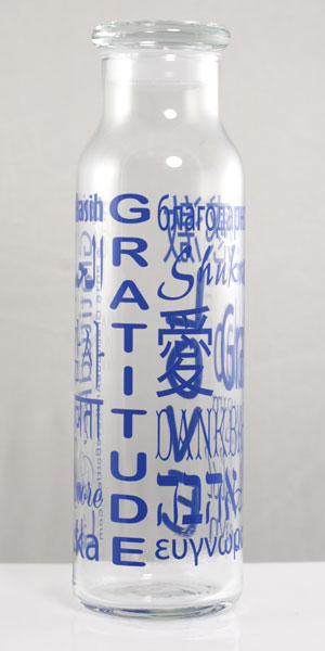 22 oz Glass Bottle - Blue - Click Image to Close