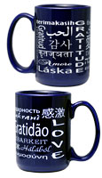 4 Mug Set: 15oz Ceramic mug - Cobalt Blue